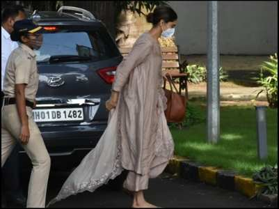 Deepika Padukone arrives at the NCB office