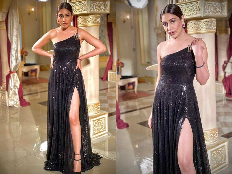 Naagin 5 actress Surbhi Chandna dazzles in a thigh-high slit gown; looks stunning in Bani's new avatar