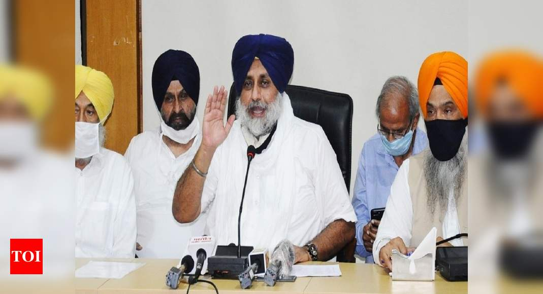 After quitting govt, BJP's 'oldest ally' Akali Dal walks out of NDA | India News – Times of India