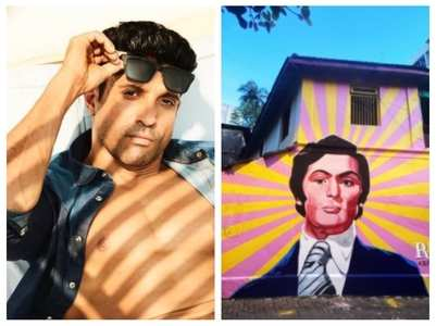 Farhan shares street art of Rishi Kapoor