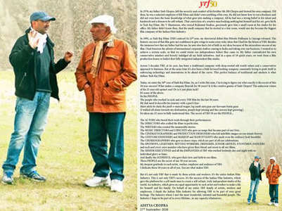 50 yrs of YRF: Aditya remembers Yash Chopra