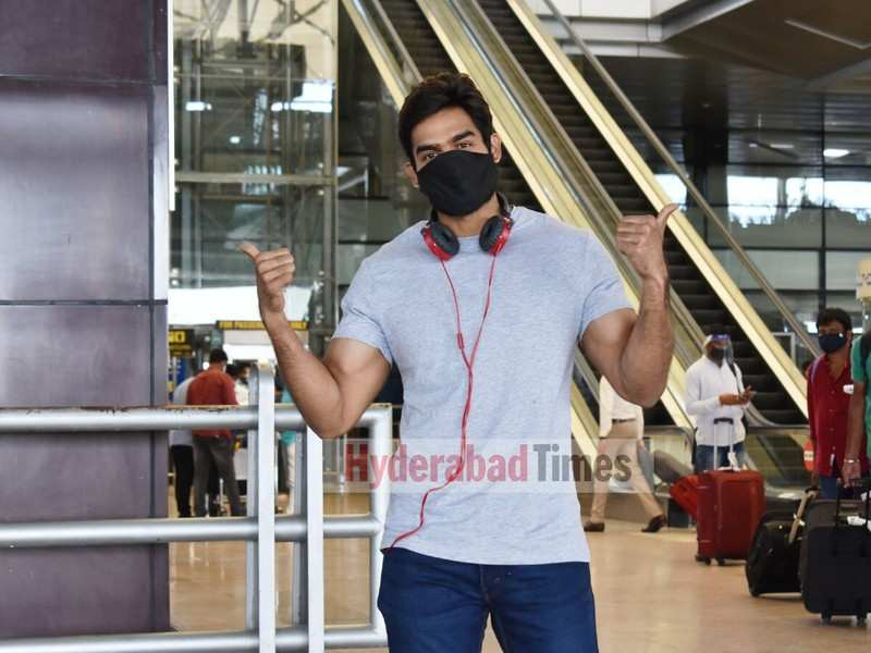 Spotted: Kartikeya Gummakonda all smiles as he returns from Chennai