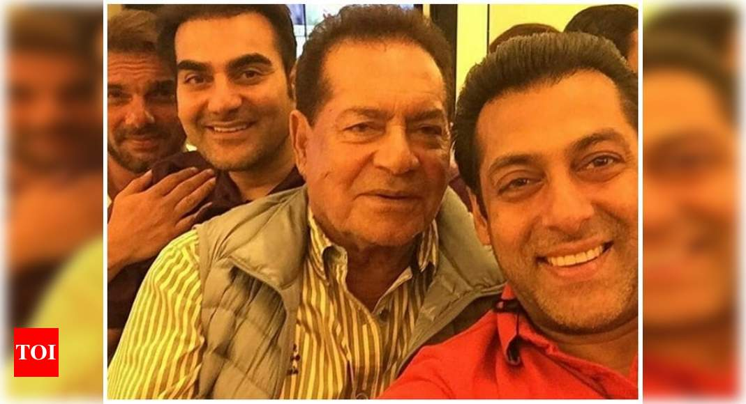 When Salman Khan, Arbaaz and Sohail came together for an epic selfie with dad Salim Khan – Times of India