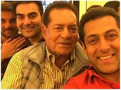 Throwback selfie of Salman & dad Salim Khan