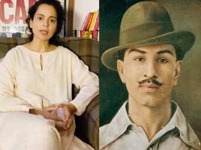 Kangana pays a tribute to Bhagat Singh