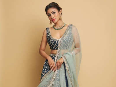 Five festive lehenga styles to steal from Mouni Roy