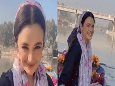 Yuvika misses hubby Prince in Kashmir