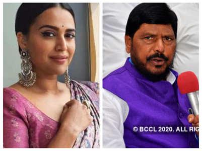 Swara Bhasker takes a dig at Ramdas Athawale