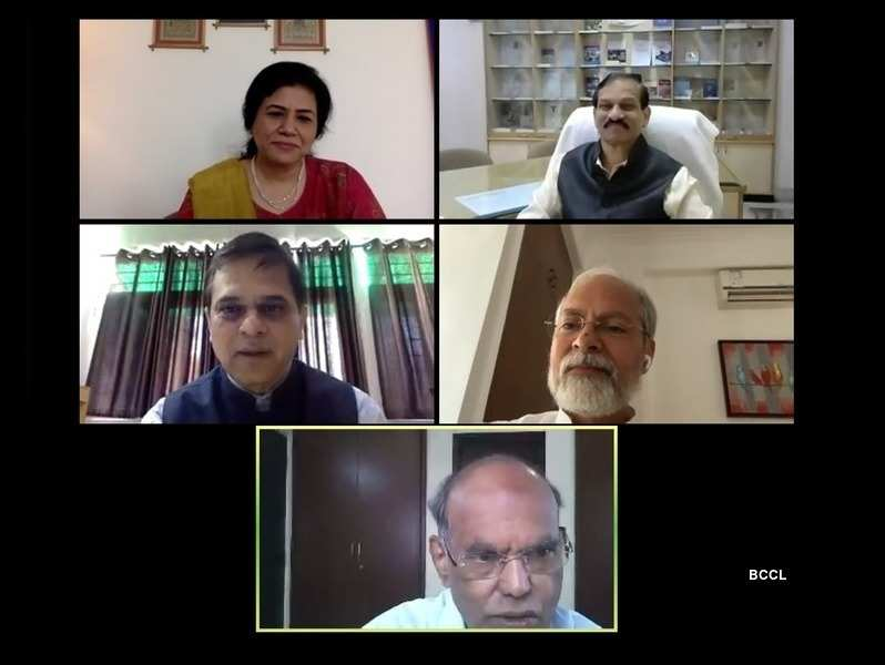 A glimpse of the webinar 'Towards a New India'