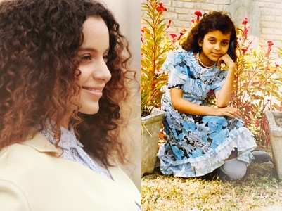 Kangana shares an unseen childhood photo