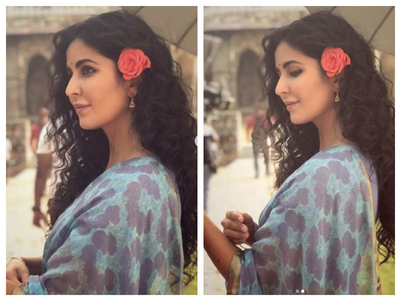 THESE throwback pictures of Katrina Kaif flaunting her curls on the sets of 'Bharat' are a sight for the sore eyes