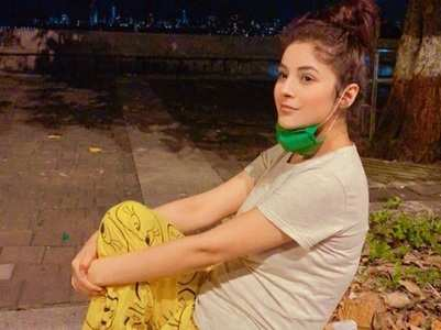 BB's Shehnaaz goes for a stroll in her PJ's
