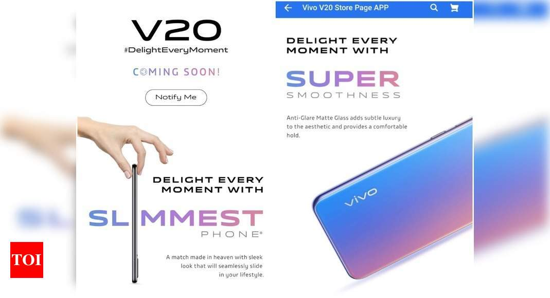 Vivo V20 series coming to India soon, gets listed on Flipkart – Times of India