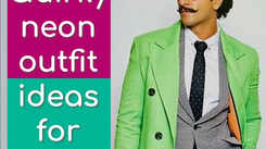 Quirky neon outfit ideas to steal from Bollywood men