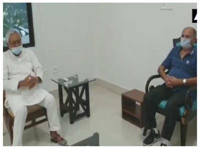 SSR's father meets Bihar CM Nitish Kumar