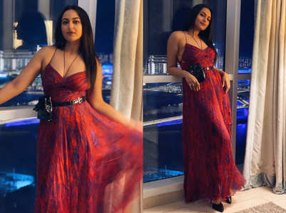 Sonakshi Sinha's cross bust dress