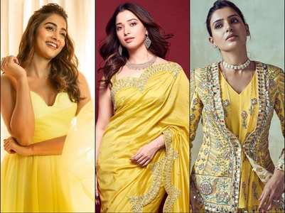 Photos: Tollywood divas in yellow outfits