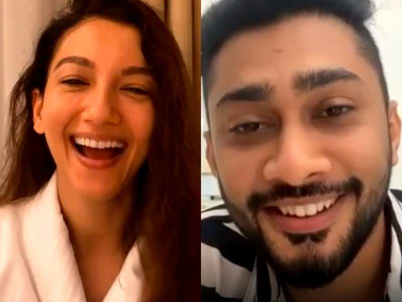 Gauahar Khan does a live chat with boyfriend Zaid Darbar before entering Bigg Boss 14; asks him not to leak any details