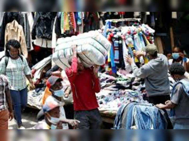Height of fashion? Cloth mountains build up as recycling breaks down