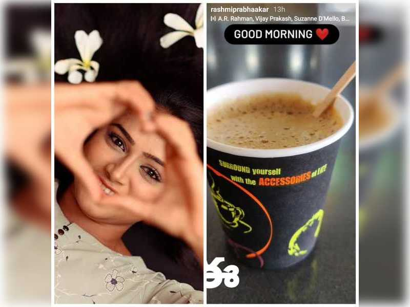 Coffee is bae for actress Rashmi Prabhakar