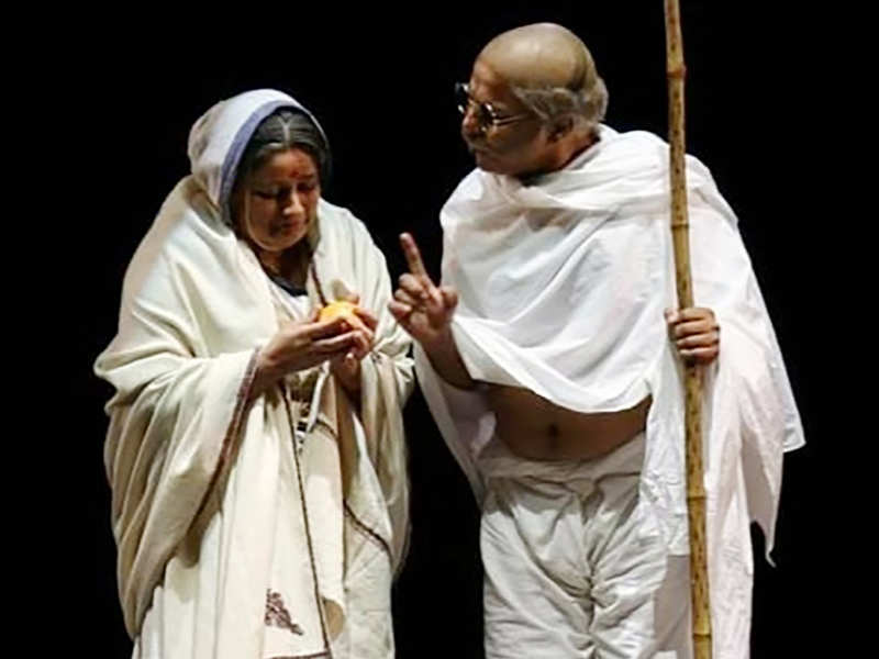 A scene from the play Mohan Se Mahatma (BCCL)