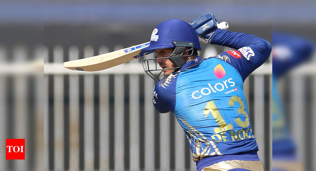 MI vs SRH: Quinton de Kock finds form as Mumbai Indians beat Sunrisers Hyderabad by 34 runs - Times of India