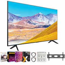 SAMSUNG UN43TU8000 43 inch 4K Ultra HD Smart LED TV (2020 Model) Bundle with Premiere Movies Streaming 2020 + 30-70 Inch TV Wall Mount + 6-Outlet Surge Adapter + 2X 6FT 4K HDMI 2.0 Cable