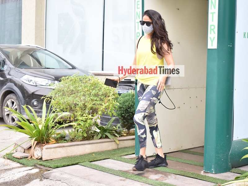 Spotted: Lavanya Tripathi shines bright in yellow after her workout session at the gym