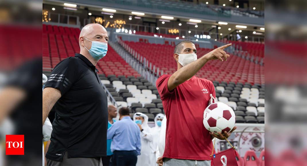 FIFA president praises Qatar's World Cup preparations | Football News – Times of India