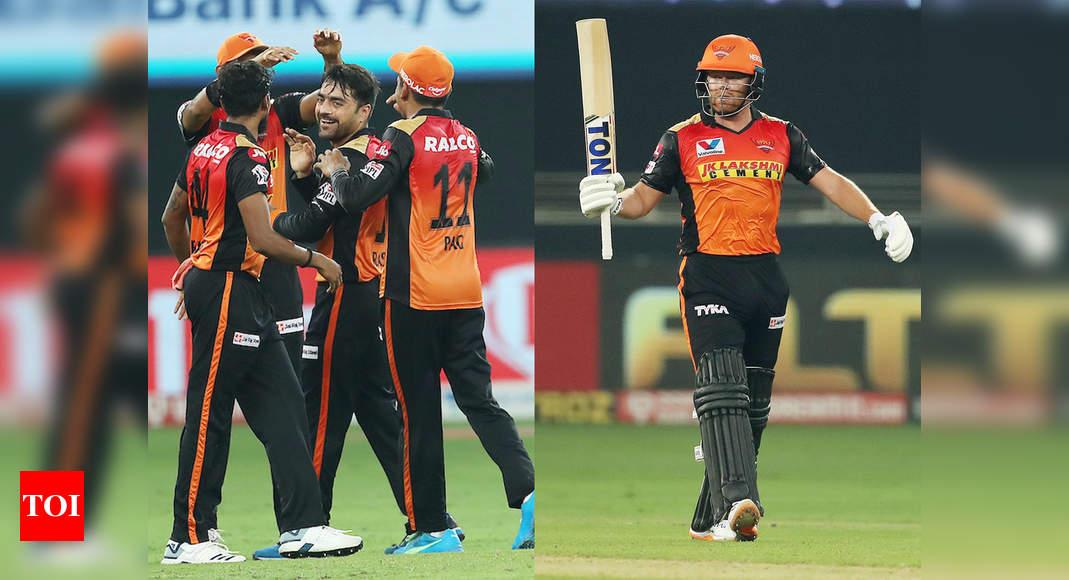 SRH vs KXIP: Jonny Bairstow, Rashid Khan star in Sunrisers Hyderabad's 69-run win over Kings XI Punjab | Cricket News – Times of India