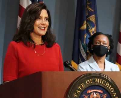 Trump rips Michigan Gov. Gretchen Whitmer, denounces violence