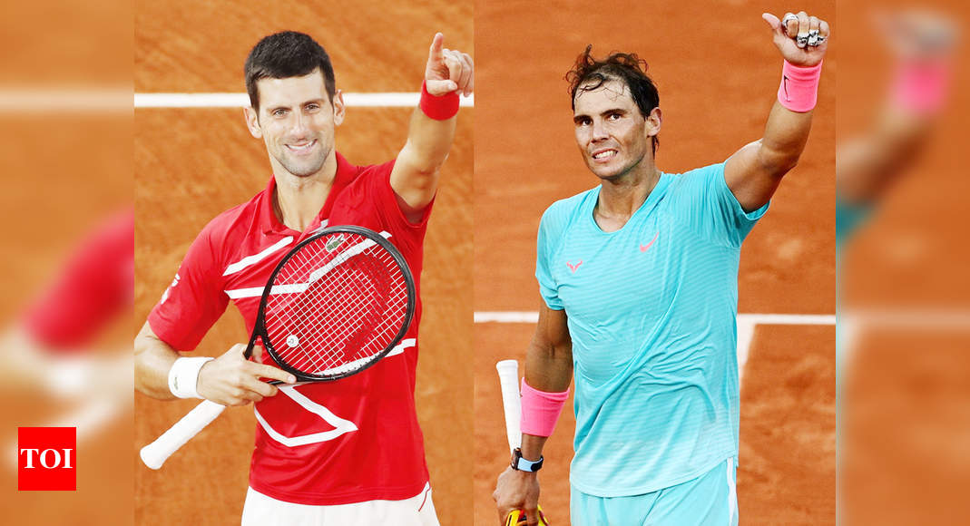 Novak Djokovic To Face Rafael Nadal In French Open Final Blockbuster Tennis News Times Of India