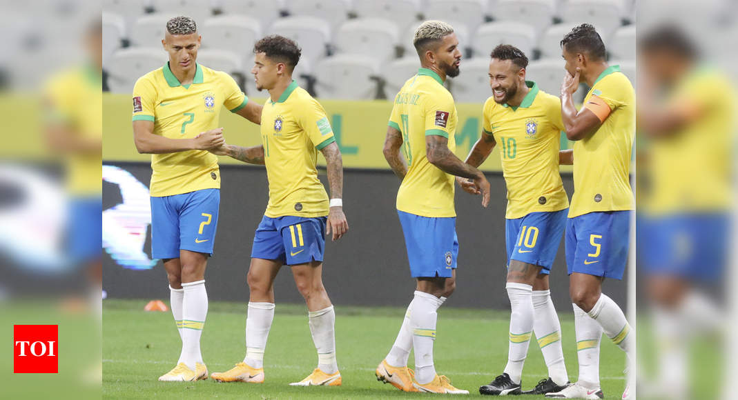 Brazil Score Five Against Bolivia In World Cup Qualifier Win Football News Times Of India