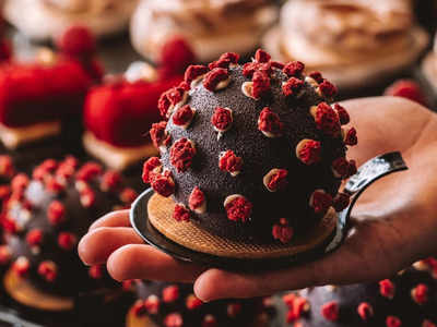 coronavirus shaped dessert (Image courtesy: cerna_madona)