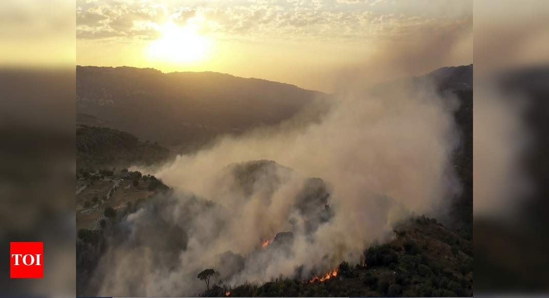 Middle East wildfires kill 3, force thousands to flee homes – Times of India