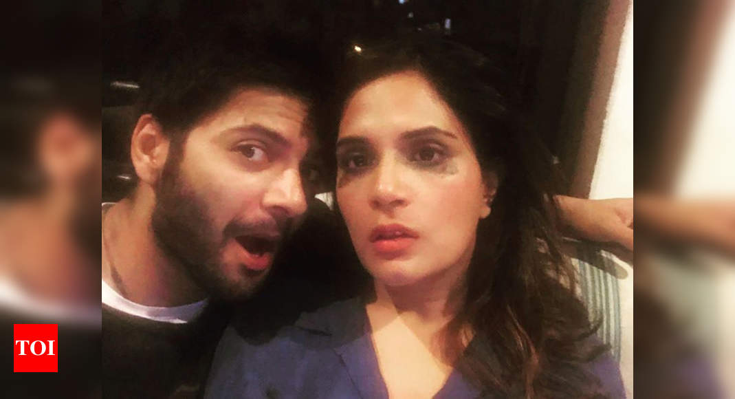 Ali Fazal shares an adorable picture with his lady love Richa Chadha; Calls her 'Super Hero' – Times of India