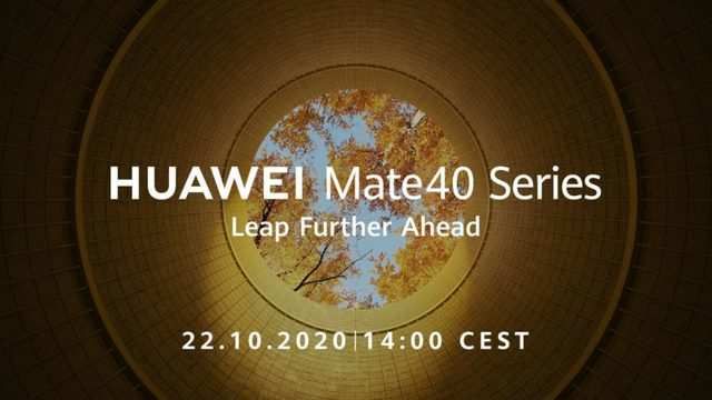 Huawei Mate40 series to launch on October 22