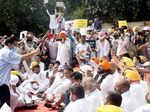 Arvind Kejriwal joins protest against farm laws