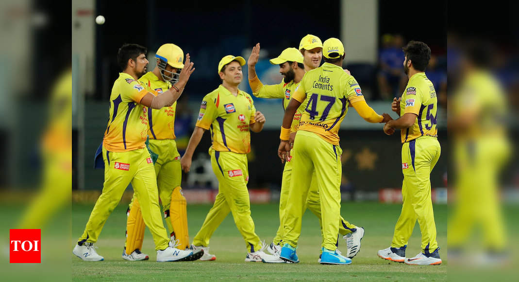 SRH vs CSK: Chennai Super Kings pull off much-needed win, beat Sunrisers Hyderabad by 20 runs | Cricket News – Times of India