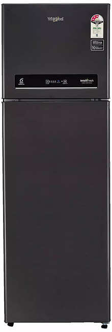 Whirlpool IF INV CNV 375 STEEL ONYX (3s)-N  360 L 3 Star Inverter Frost-Free Double Door Refrigerator Black