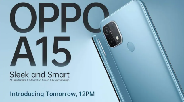 Oppo A15 to launch in India on October 15