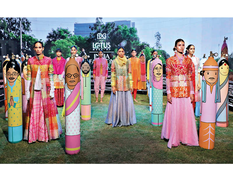A still from Rajesh Pratap Singh's show from the digital edition of Lotus Makeup India Fashion Week