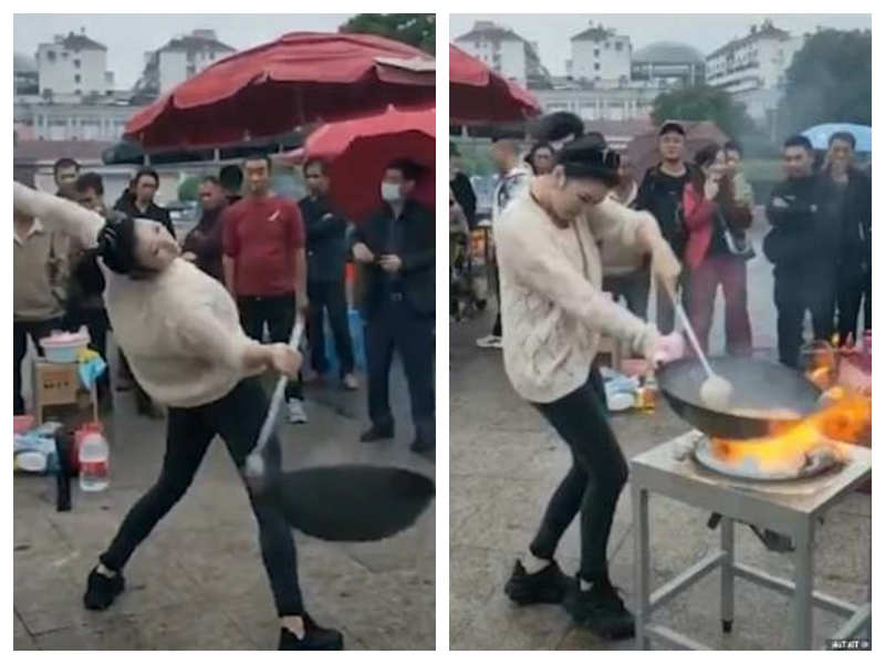 Video of woman cooking noodles while dancing goes viral, here's what netizens have to say
