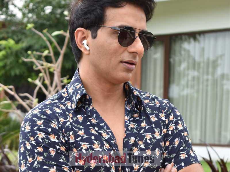 Spotted: Sonu Sood rocks a floral shirt on the sets of Alludu Adhurs