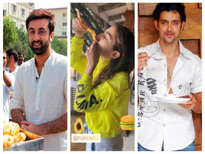 Celebs who can't do without junk food