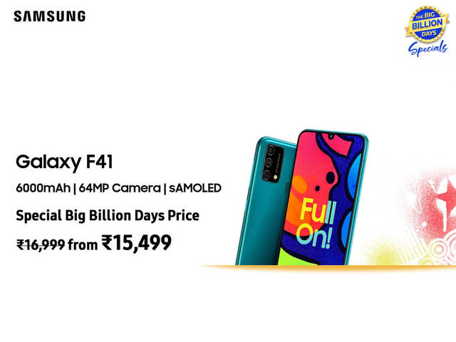 Are you #FullOn excited for the best deals at Flipkart Big Billion Days Sale? Here's why you should get the Samsung Galaxy F41 at just Rs 15,499!