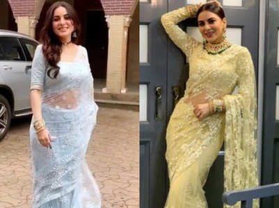 Shraddha changes her saree after a month