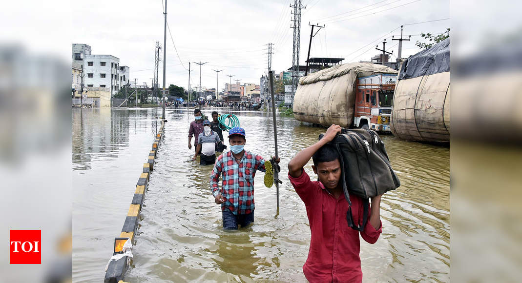 Two days after heavy rains, Hyderabad limps back to normalcy; relief operations under way - Times of India