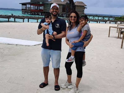 Dimpy vacays with family in Maldives