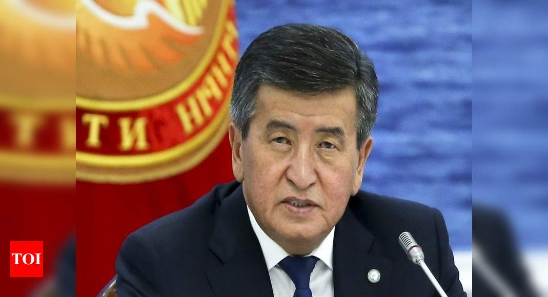 Kyrgyz president quits; prime minister, newly sprung from jail, takes over – Times of India